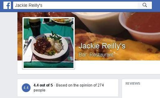 Jackie Reilly's Irish Pub & Restauranton Facebook