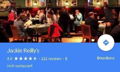 Jackie Reilly's Irish Pub & Restaurant on Google