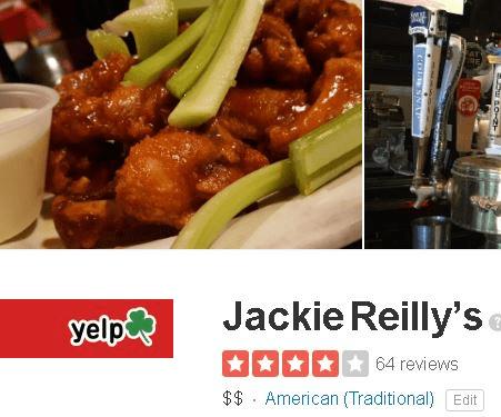 Jackie Reilly's Irish Pub & Restauranton Yelp
